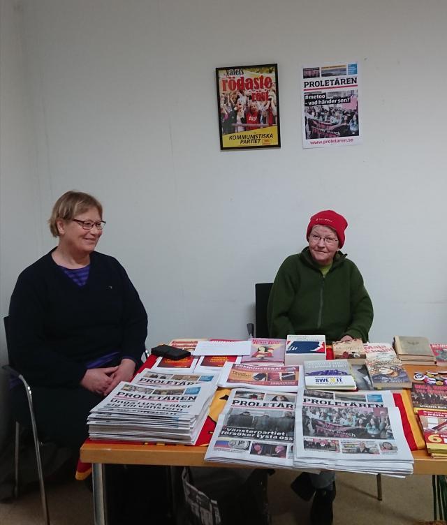 Kommunisternas bokbord i Smedbyn, Huskvarna.