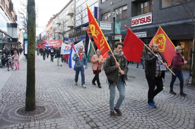 Röd Front Jönköping - Demonstrationståget 2018